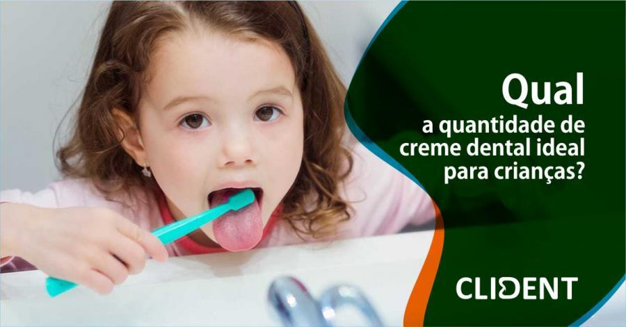 Qual a quantidade de creme dental ideal para crianças?
