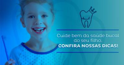 Sete dicas para cuidar da saúde bucal dos pequenos